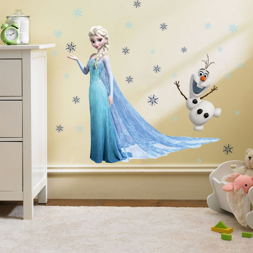 Nálepka na zeď královna Elsa s Olafem