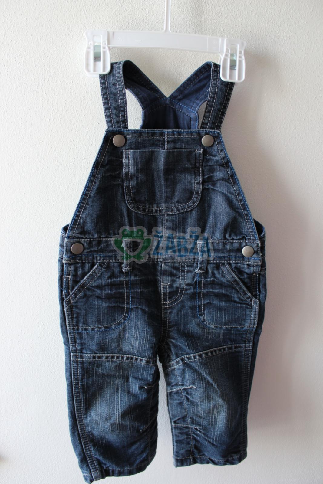 Džínové zateplené kalhoty s laclem