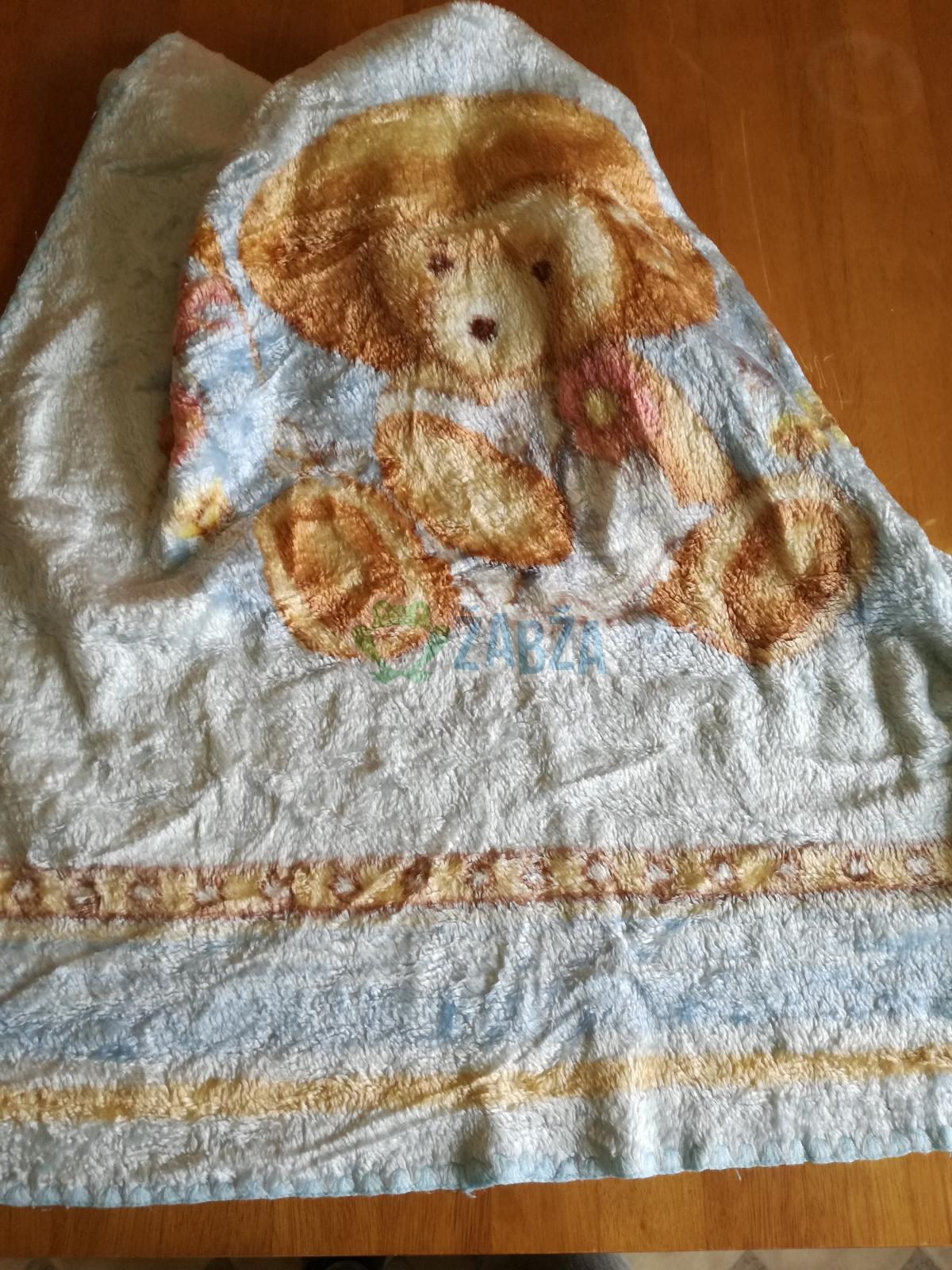 Dětská deka, osuška s medvídkem