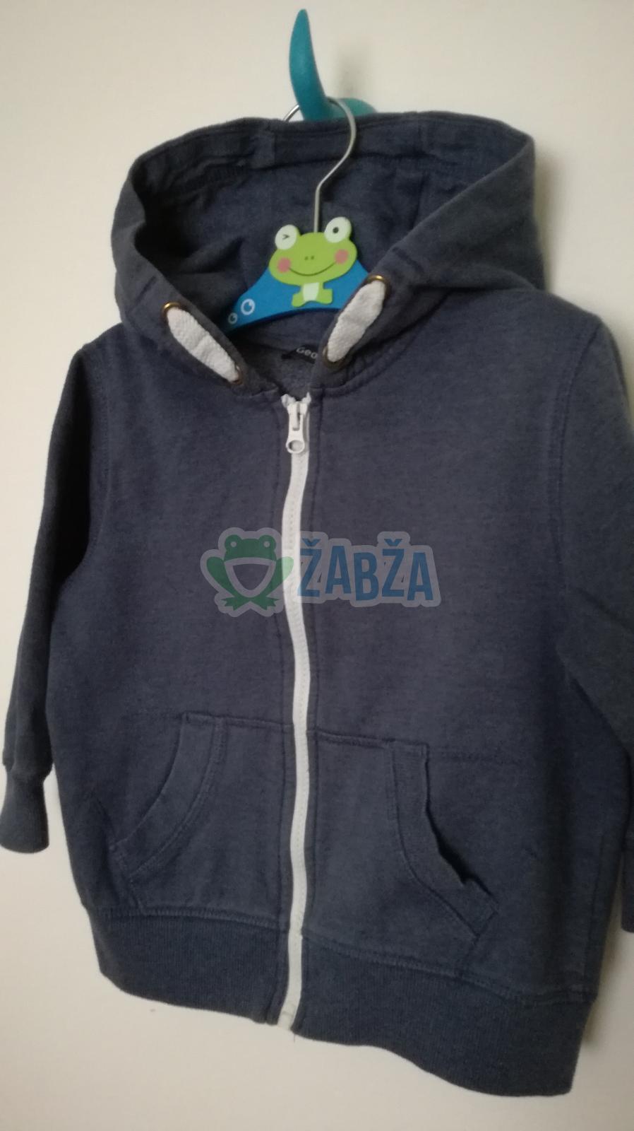 Tmavě modrá mikina na zip