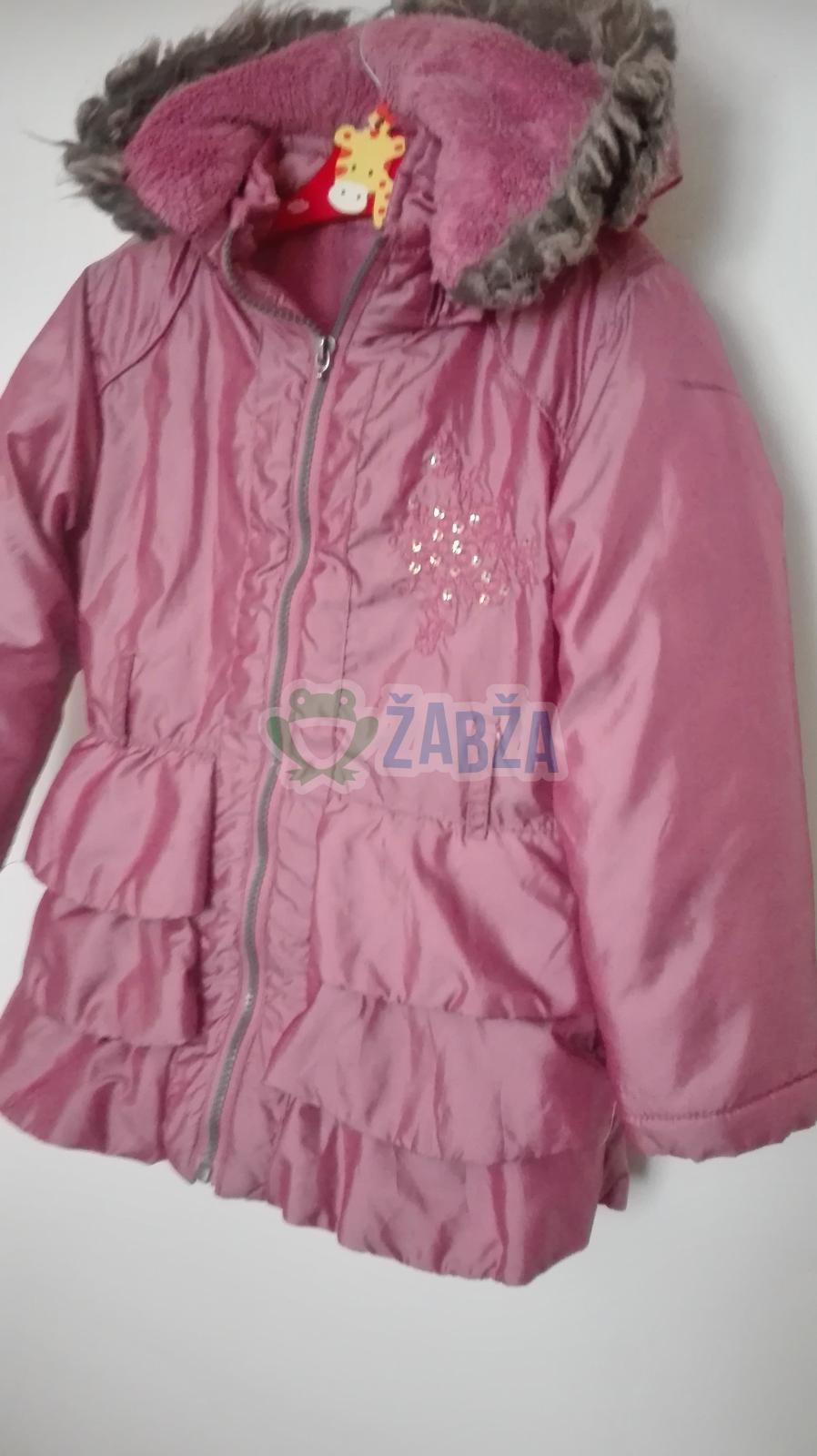 Zimní dívčí bunda s kapusí vel.5-6 let