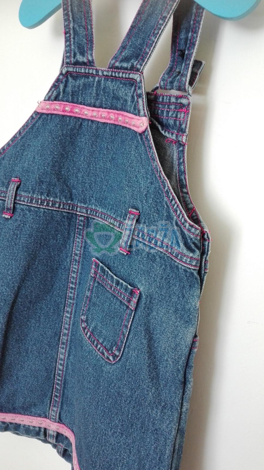 Džínová sukně s laclem
