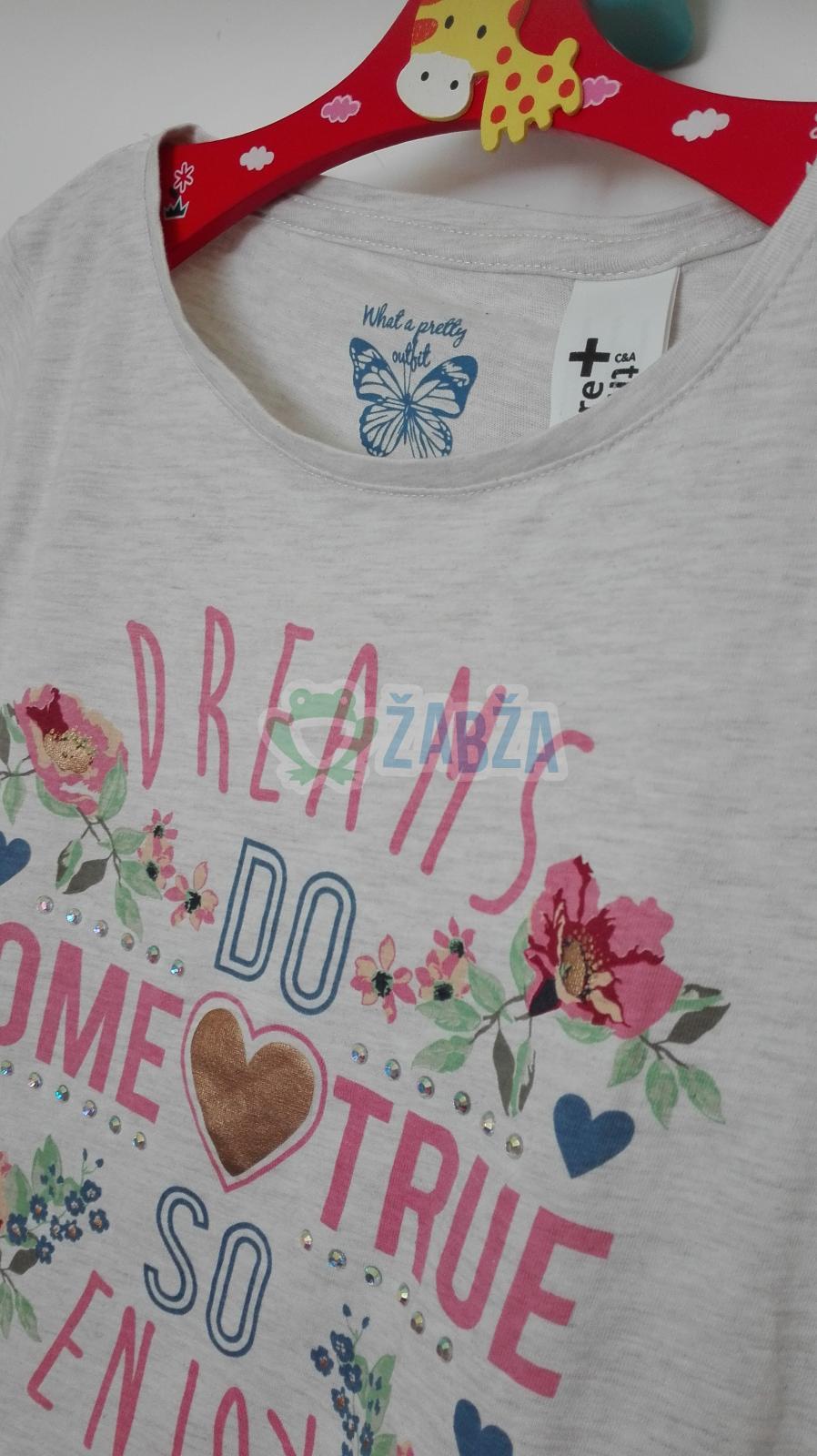 Dívčí tričko s krátkým rukávem