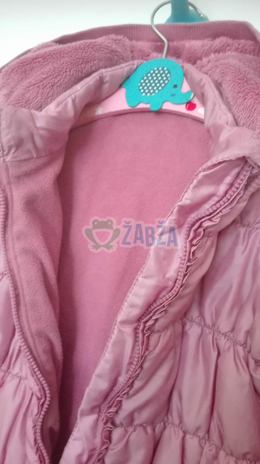 Dívčí zimní bunda v barvě světle růžová(2-3roky)