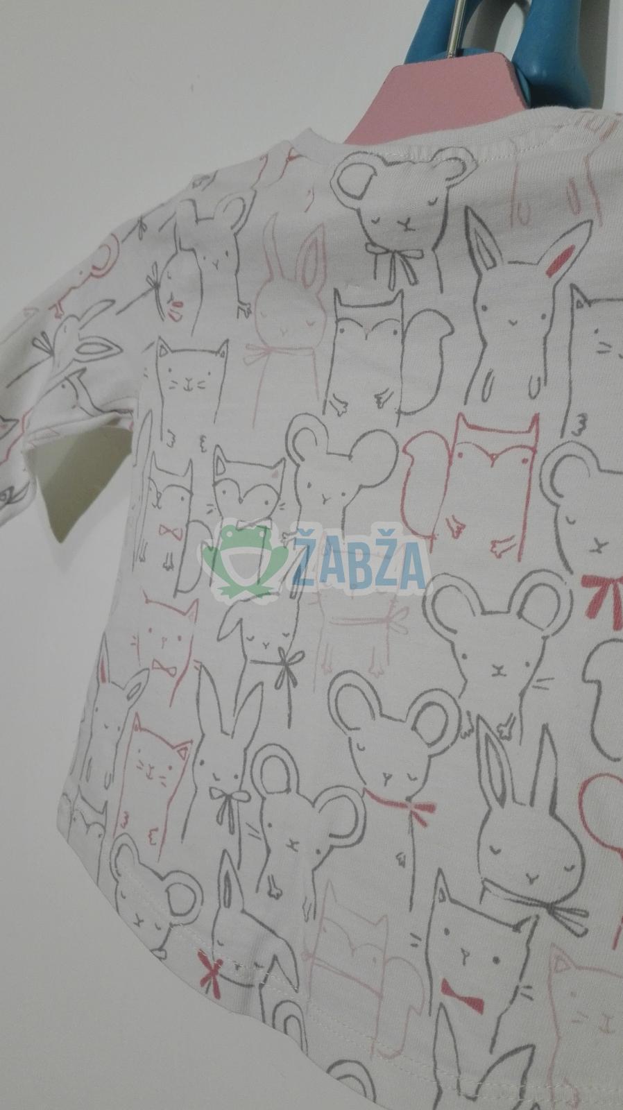 Tričko s dlouhým rukávem,slabé (0-1měs.)