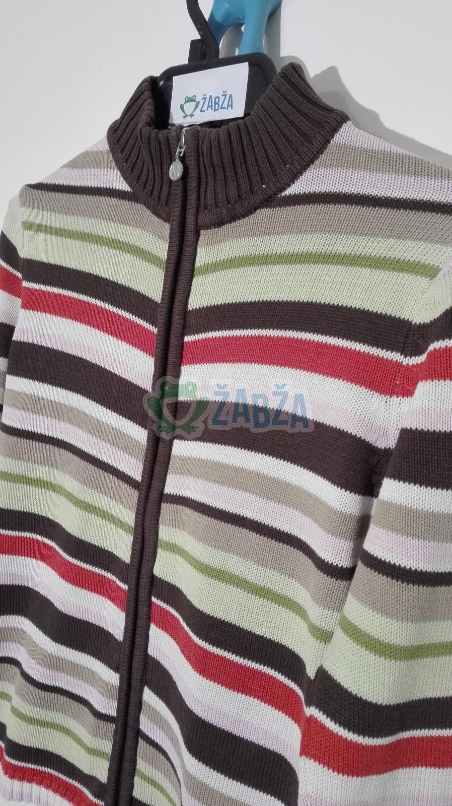 Svetr pletený na zip (11-12r.)