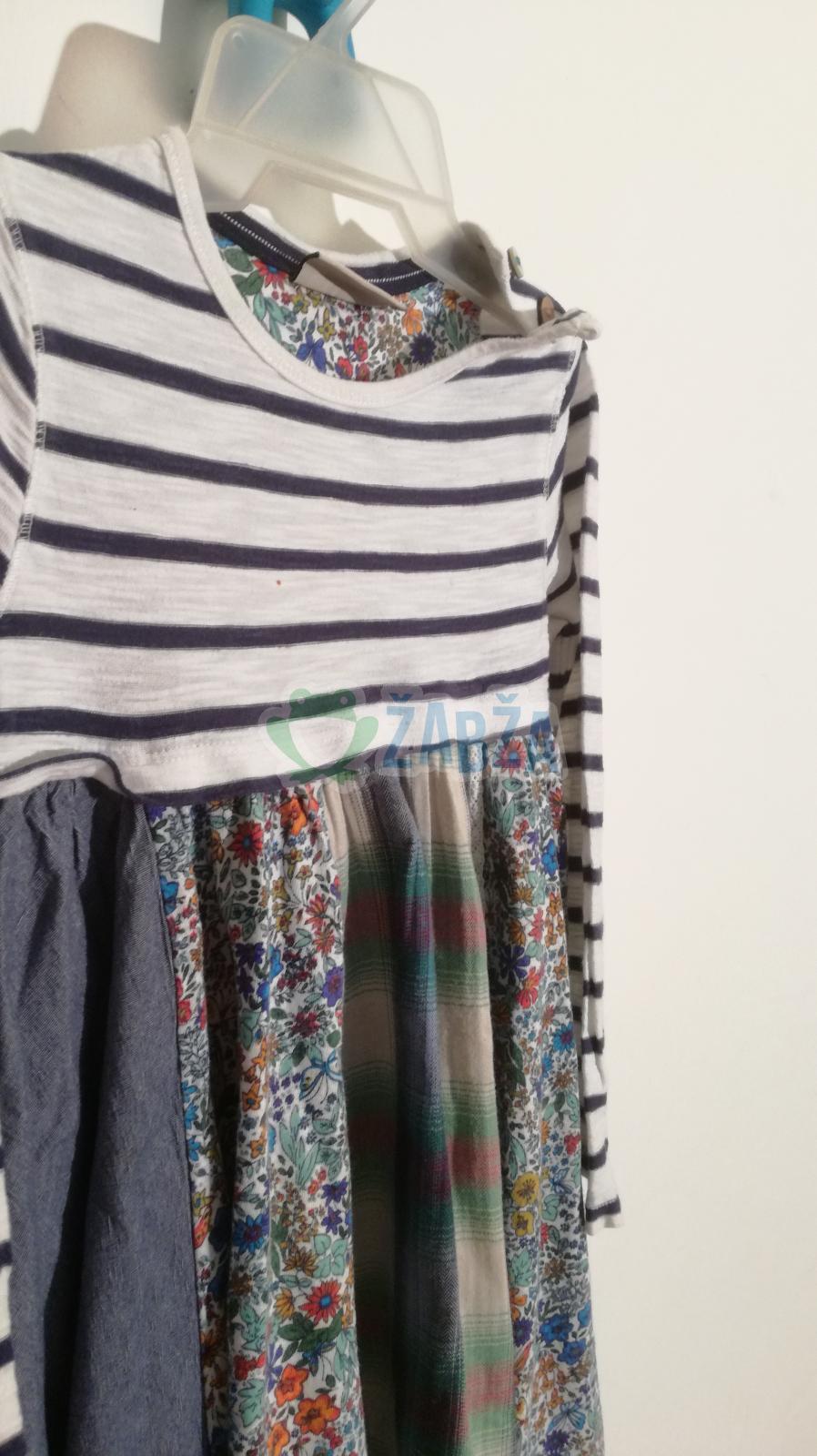 Šaty s dl.rukávem (vel.104-110)