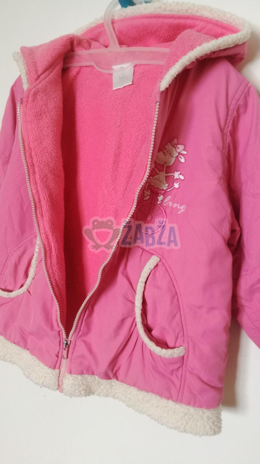 Dívčí zimní bunda (vel.92-98)